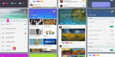 PSD исходники - Дизайн мобильного приложения для Android