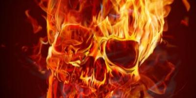 Как нарисовать человеческий череп в огне