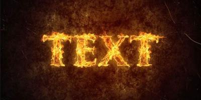 Создание огненного текстового эффекта в Photoshop