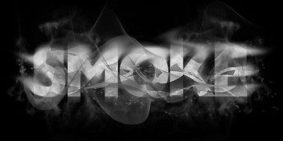 Эффект дыма для текста в фотошопе