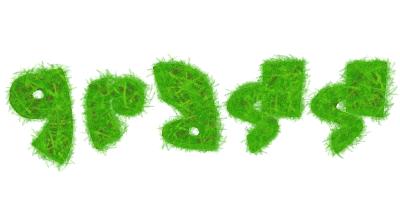 Урок фотошопа - травянистый зеленый текст