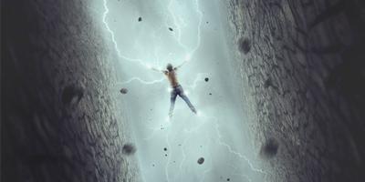 Создаем в фотошоп сказочную композицию с человеком, удерживающим молнии
