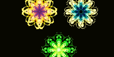Урок фотошопа - красивый абстрактный цветок