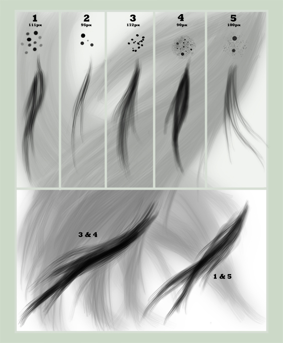 кисти для фотошопа волосы 1