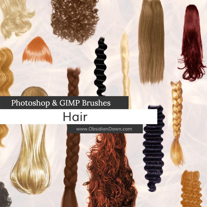 косы волосы кисти для фотошопа
