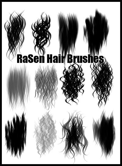 кисти для фотошопа нарисованные волосы