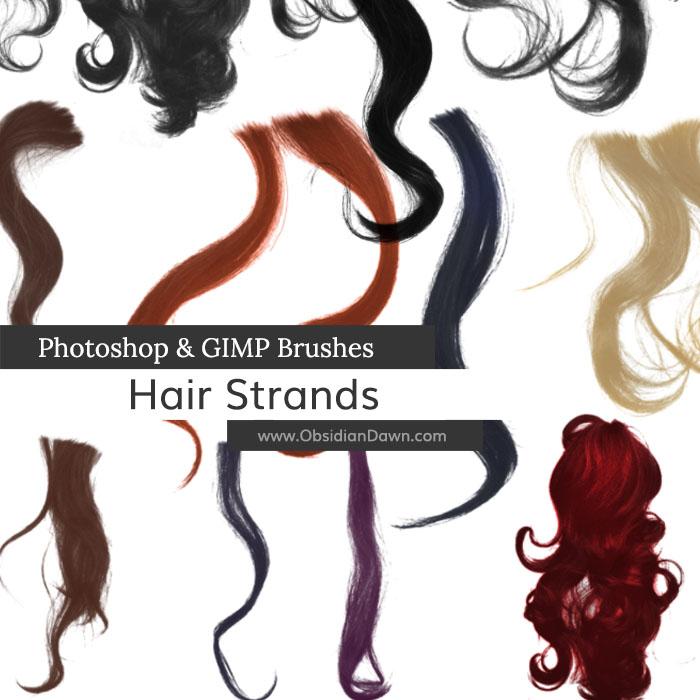 волнистые и кудрявые волосы для фотошопа кисти
