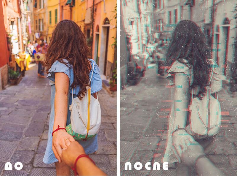 глитч эффект на фото до и после