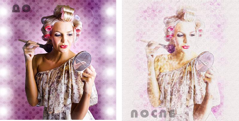 фото рисунок до и после