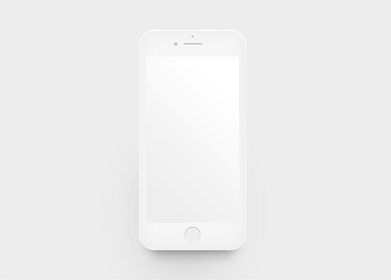 Шаблон iPhone 7 белый (white) mockup PSD