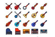 Иконки музыкальных инструментов