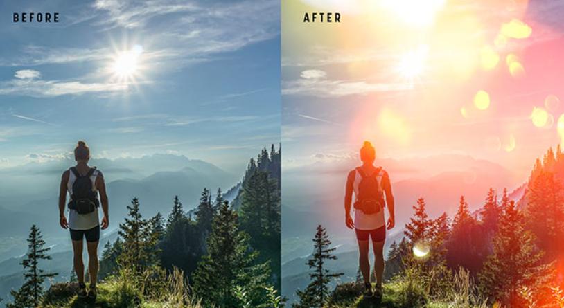Реалистичные световые оверлеи для изображений