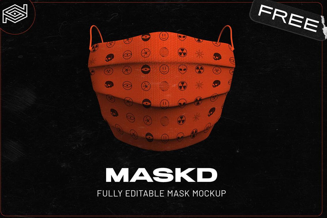 PSD-шаблон «Медицинская маска»