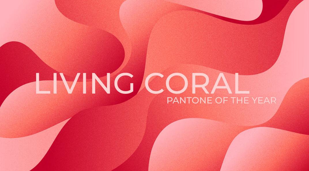 Набор фонов «Абстрактный коралл»