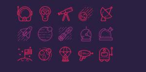 Набор иконок «Космос»