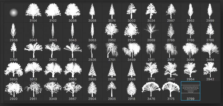 Набор кистей «Деревья»