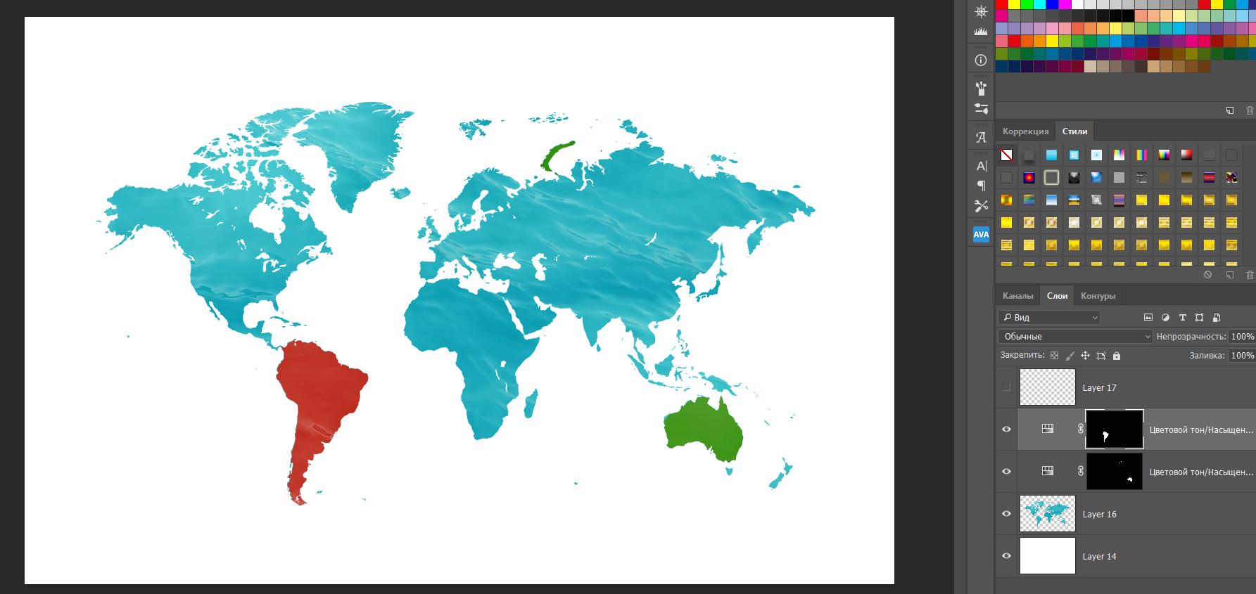 PSD-шаблон «Карта мира»