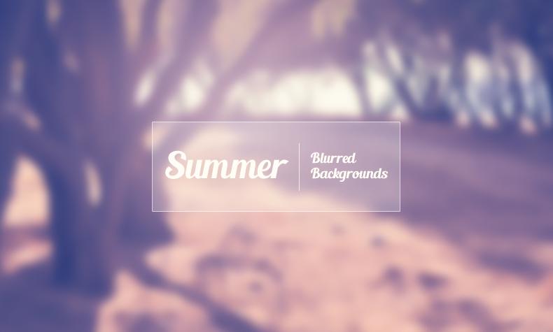Набор размытых фонов «Лето»