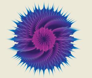 Набор фонов «Геометрические цветы»