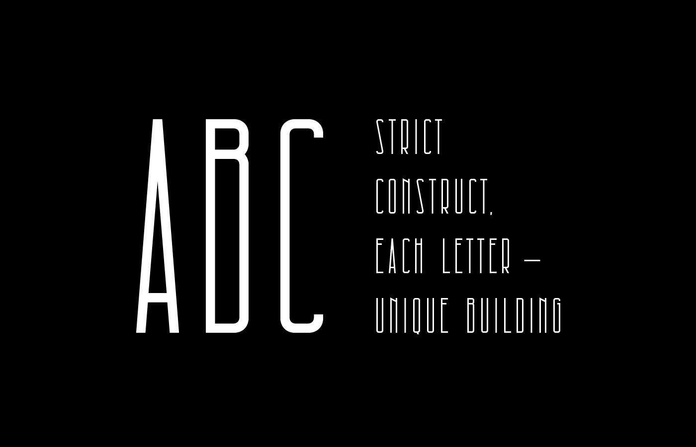 Шрифт Architectural Кириллица