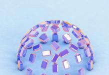 Набор фонов «Голографические кубы»