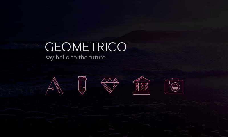 Набор иконок Geometrico