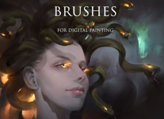 Набор кистей для цифровой живописи