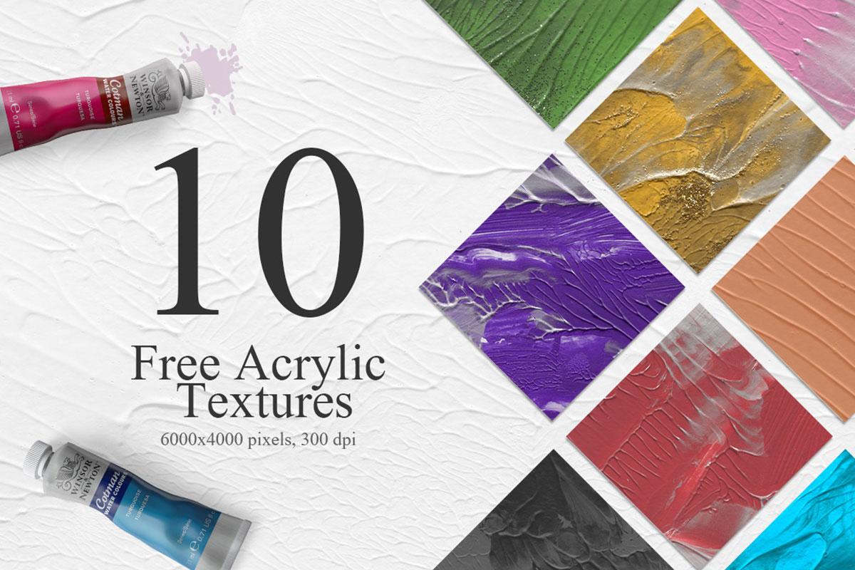 Набор текстур «Акриловые краски»