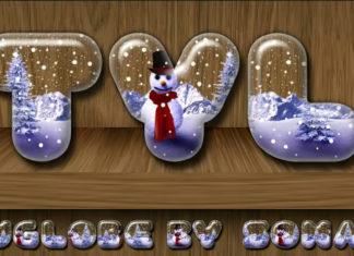 Стиль слоя «Снежный шар»