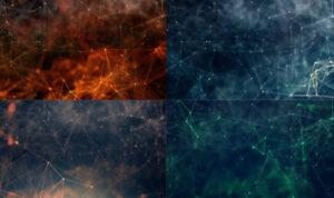 Набор фонов «Полигонные созвездия»