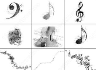 Набор кистей «Музыка и ноты»