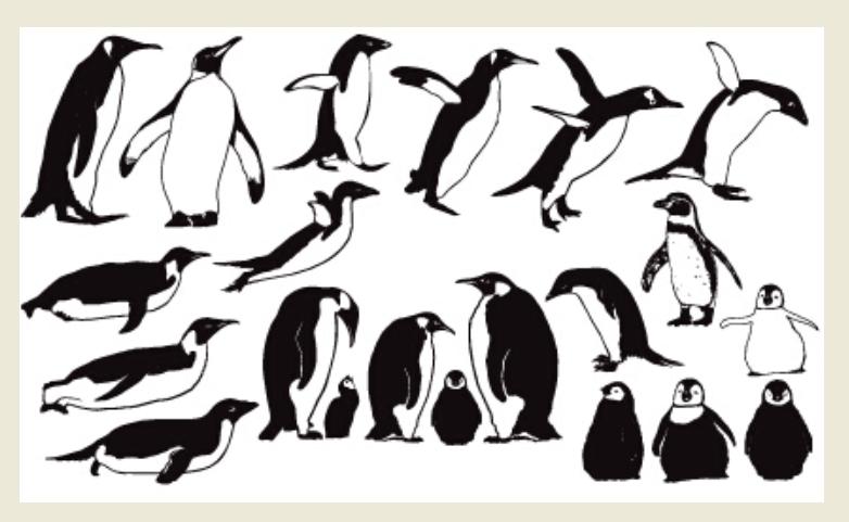 Набор фигур «Пингвины»