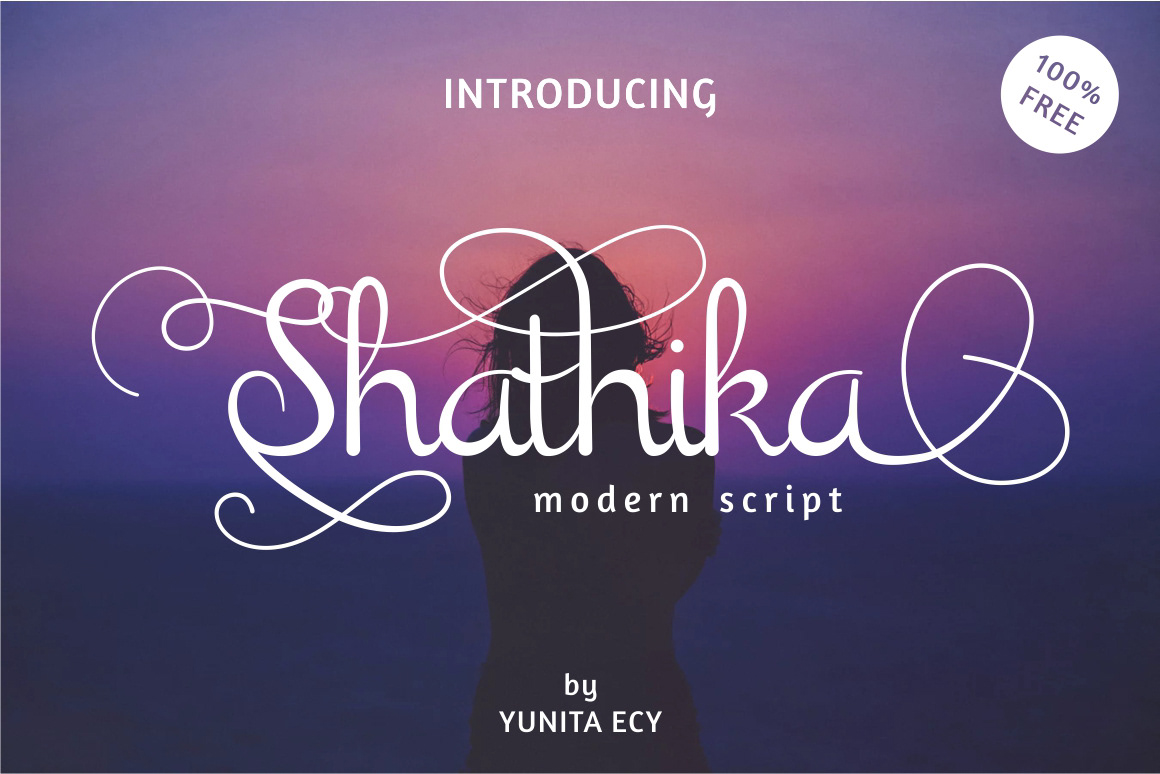 Шрифт Shathika Латиница