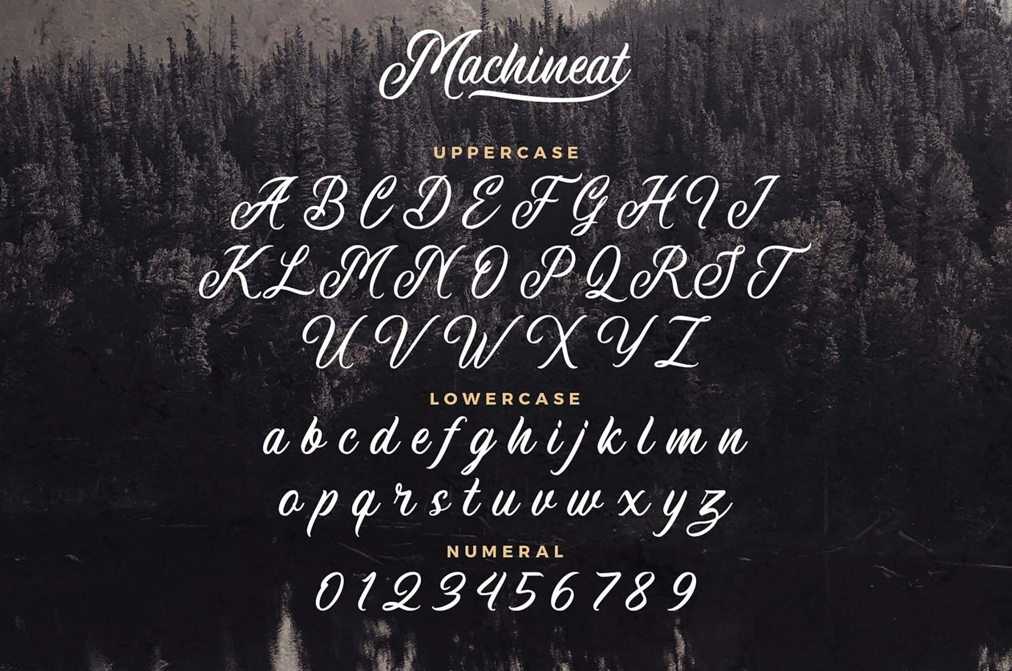Шрифт Machineat Латиница