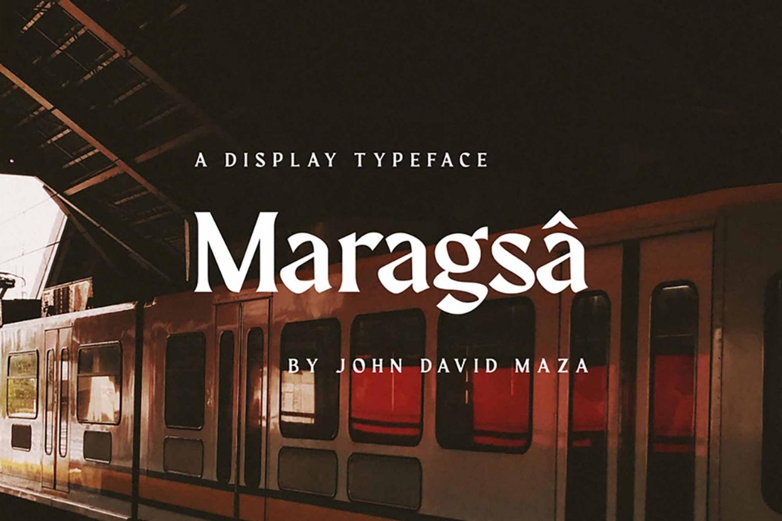 Шрифт Maragsa Латиница