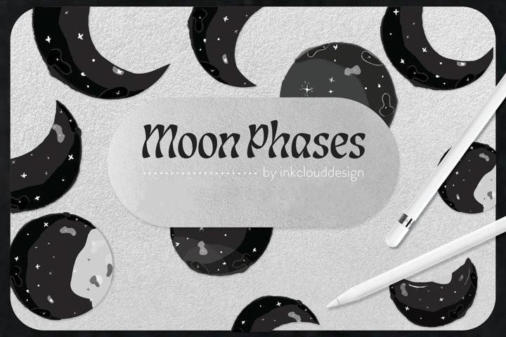 Клипарт «Луна и звезды»