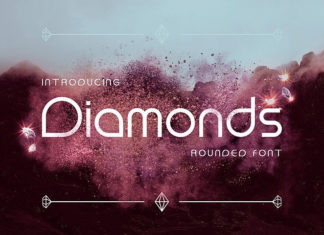 Шрифт Diamonds Латиница