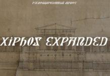 Шрифт Xiphos Expanded Кириллица