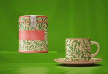 PSD-шаблон «Чайная пара и банка чая»
