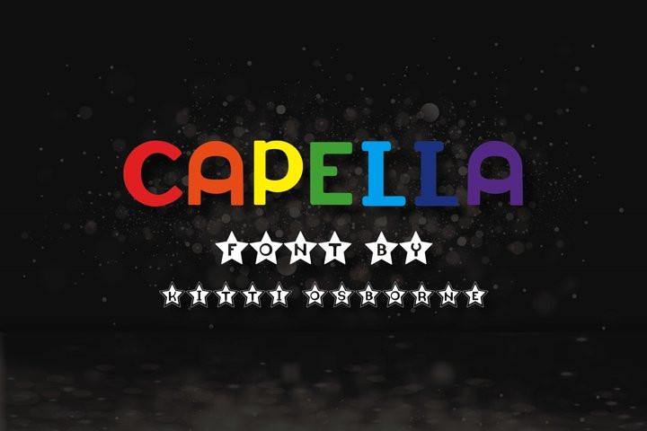 Шрифт Capella Латиница