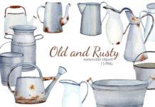 Клипарт «Старинная посуда»