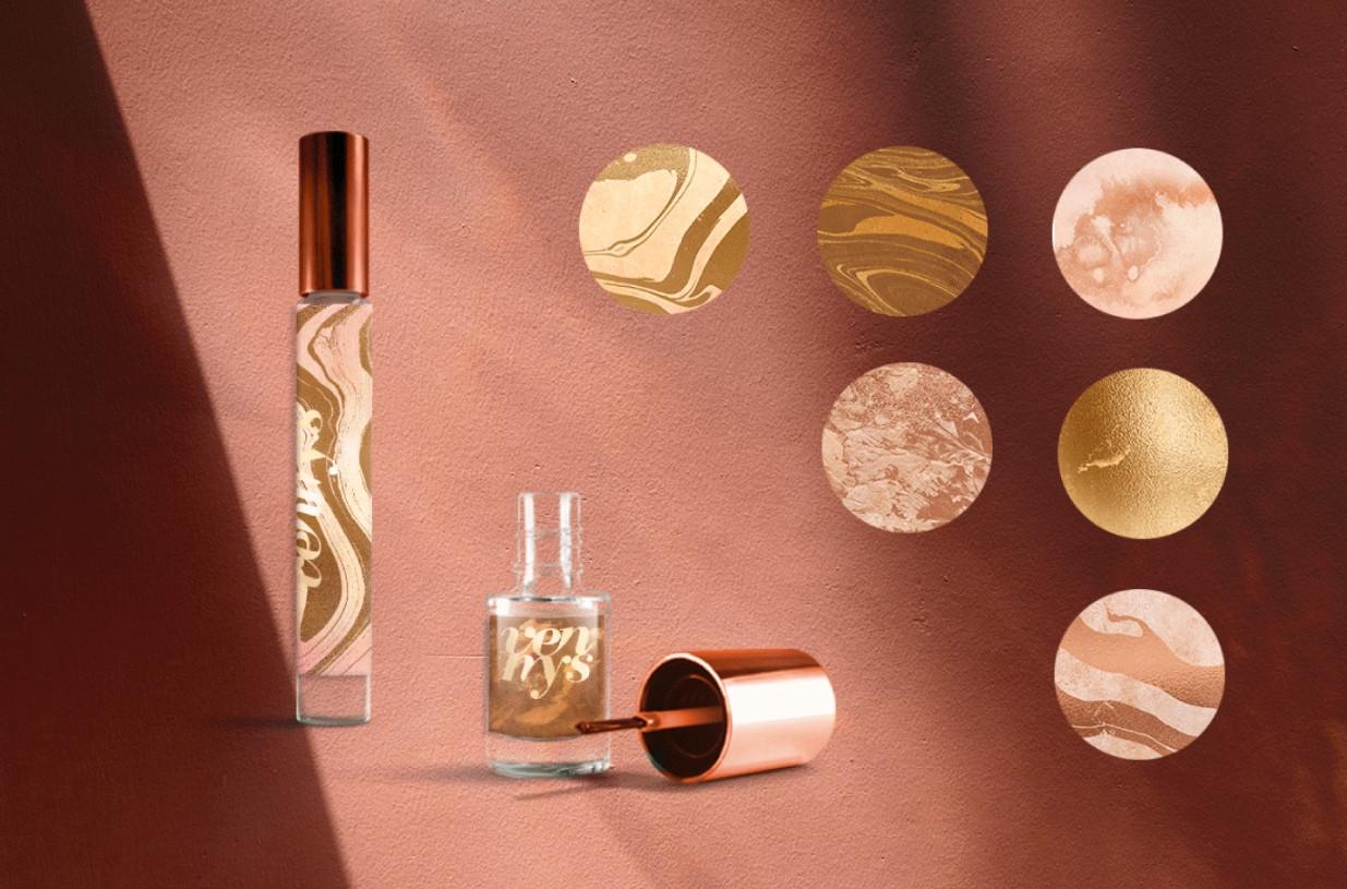 Набор текстур «Золото в розовом»