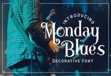 Шрифт Monday Blues Латиница