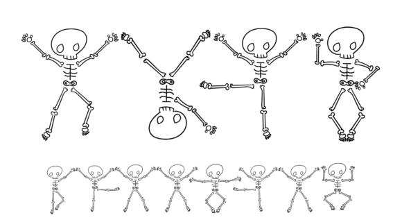 Набор фигур «Танцующие скелеты»