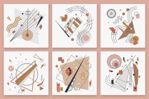 Набор текстур «Векторная абстракция»