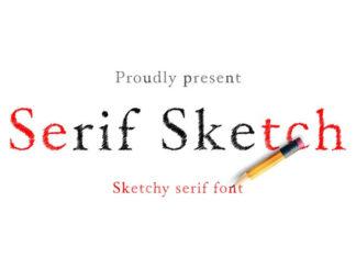 Шрифт Serif Sketch Кириллица