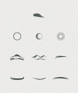 Клипарт «Элементы логотипов»