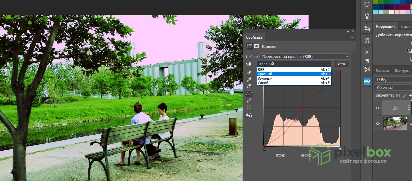 Создание эффекта кросспроцессинга в Photoshop