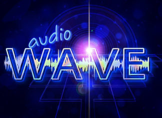 Шрифт Audio Wave Латиница