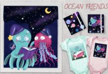 Клипарт «Океанические друзья»